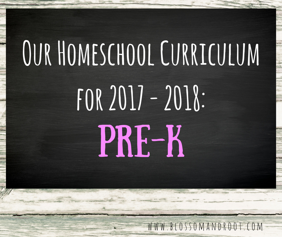 homeschool prek curriculum for 2017 and 2018