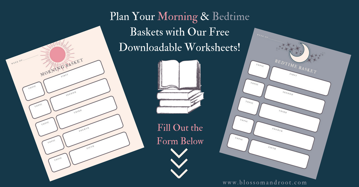 bedtime basket morning basket worksheet