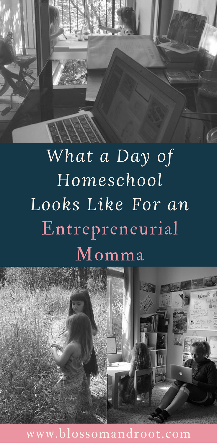 What a typical day of homeschool looks like for a work-at-home mom