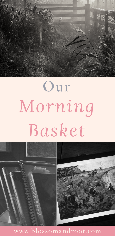 morning basket, charlotte mason, homeschool, picture study, composer study, reading, nature lore, secular homeschool