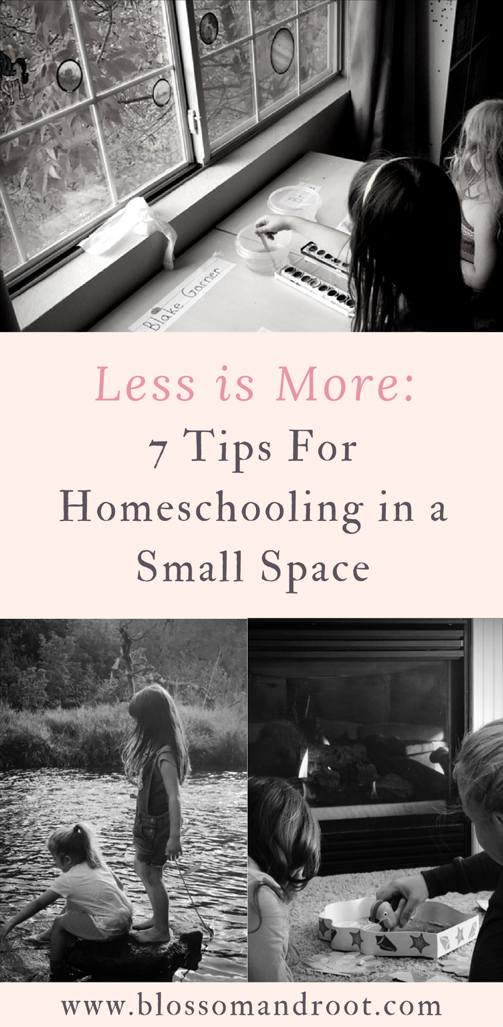 Homeschooling in an apartment or small space comes with unique challenges. Here are 7 tips to make the most of smaller living spaces while homeschooling.
