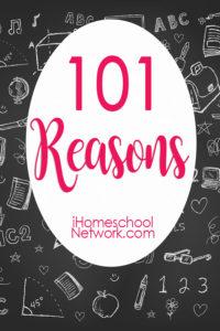 101 reasons homeschool