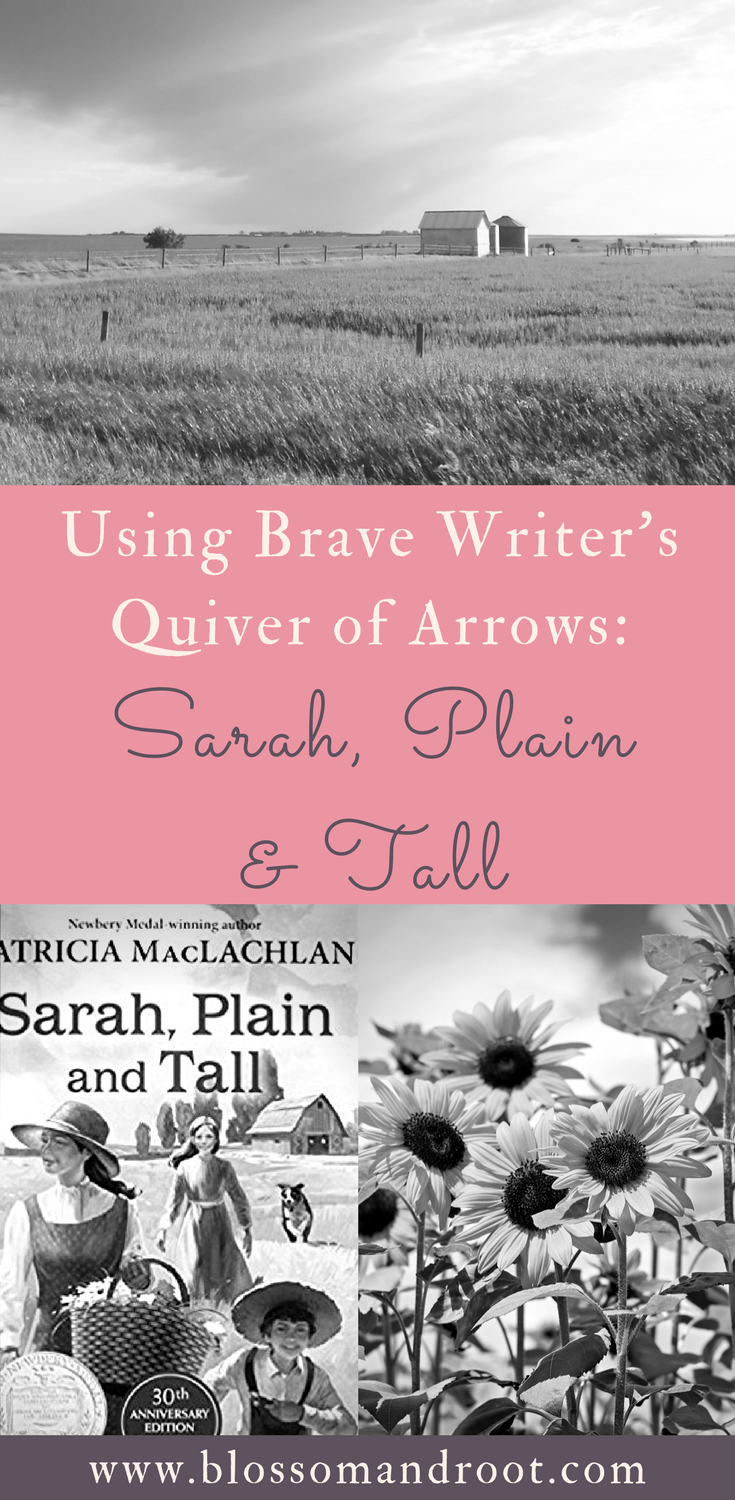 Using Brave Writer's Quiver of Arrows in early elementary for homeschool writing. Copywork, dictation, and writing projects to   teach spelling, punctuation, composition, and literary elements all from one beautiful selection of children's literature.