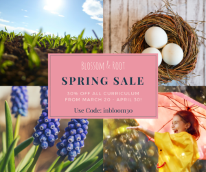 spring curriculum sale for homeschoolers