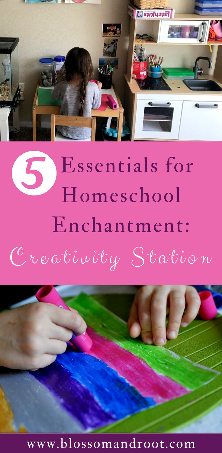 Another essential for homeschool enchantment: creativity stations! In today's post, we dive into creating dedicated space for your child's imagination to bloom. Art, writing, and problem-solving come together in a perfect space for homeschoolers.