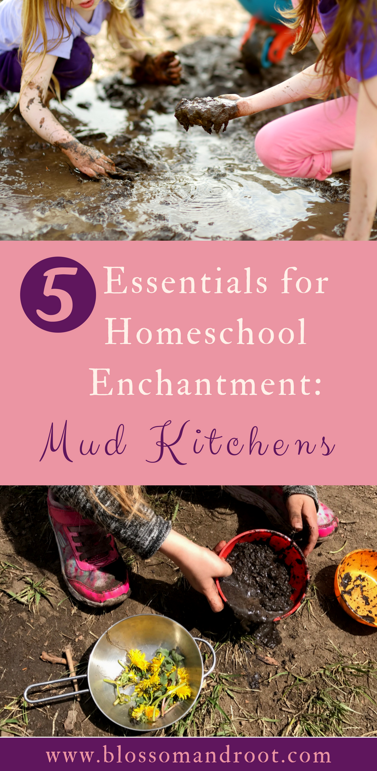 Mud kitchens are a wonderful addition to a nature-based homeschool, an unschooling household, or any child's backyard! In this post, we dive into why mud kitchens belong on your homeschool wish-list right alongside math curriculum and books.
