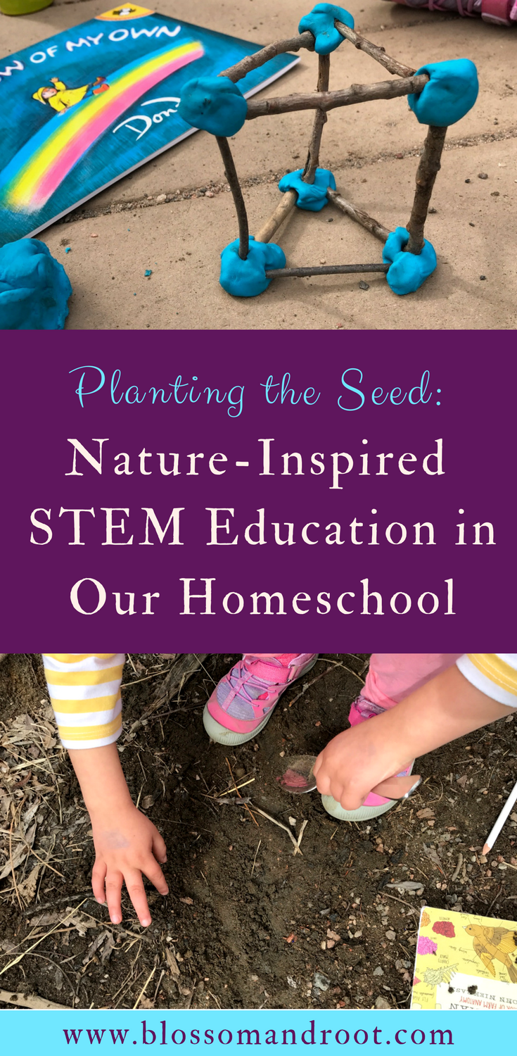 Combining nature study, STEM, and children's literature to inspire discovery, wonder, and open-ended investigation in our homeschool. How science, math, art, literature, technology, engineering, and nature study come together in our relaxed, eclectic homeschool.