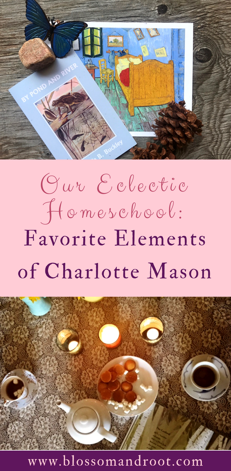 In our eclectic homeschool, we combine multiple philosophies including Charlotte Mason, Waldorf, classical education, unit studies, and a dash of unschooling. Here are our favorite elements of Charlotte Mason that we integrate into our homeschool.