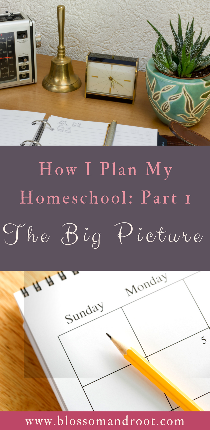 Homeschool planning series part one: the big picture. In this post, I walk you through how I tackle the