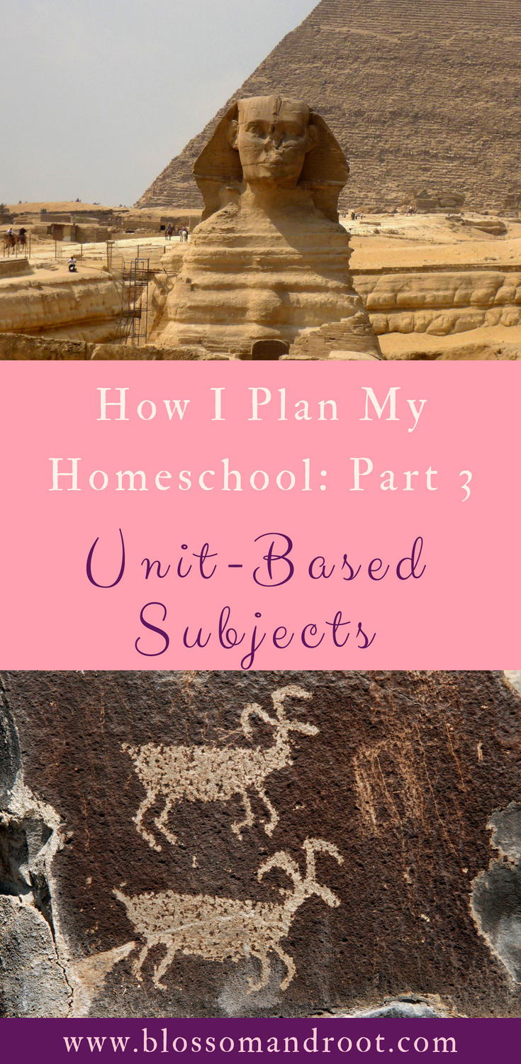 In this post, I break down how I plan unit-based subjects for our homeschool. This is how I plan history and social studies right now. We keep a relaxed homeschooling approach and allow room for unexpected inspiration.